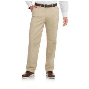 Khaki Men Cream 3D Stripe Tailored Dress Pant